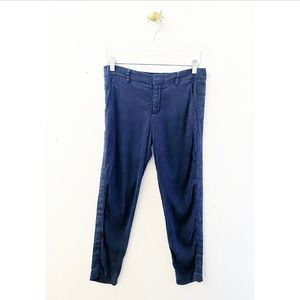 vince / blue casual linen relaxed pants straight